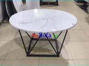 bàn sofa mặt đá đẹp, bàn sofa hình tròn