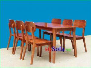 bộ bàn ghế ăn đẹp 6 chỗ