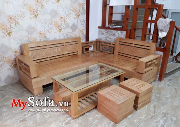 sofa gỗ hiện đại bán tại Bắc Ninh