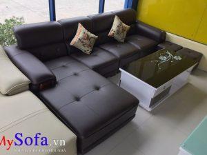 sofa góc chữ L đẹp, sofa da đẹp sang trọng