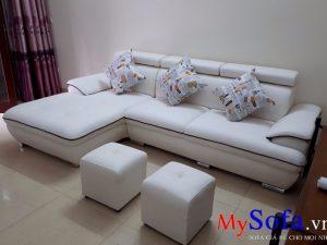 ghế sofa da đẹp, sofa da phòng khách đẹp