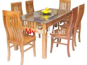 Bộ bàn ghế ăn gỗ sồi tự nhiên đẹp