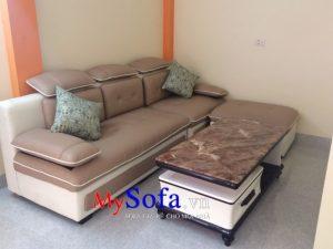 mẫu ghế sofa văng da đẹp