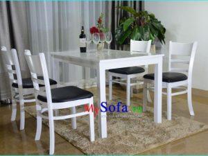 bộ bàn ăn 4 ghế hiện đại sang trọng