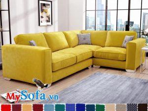sofa goc chu l mau vang chanh