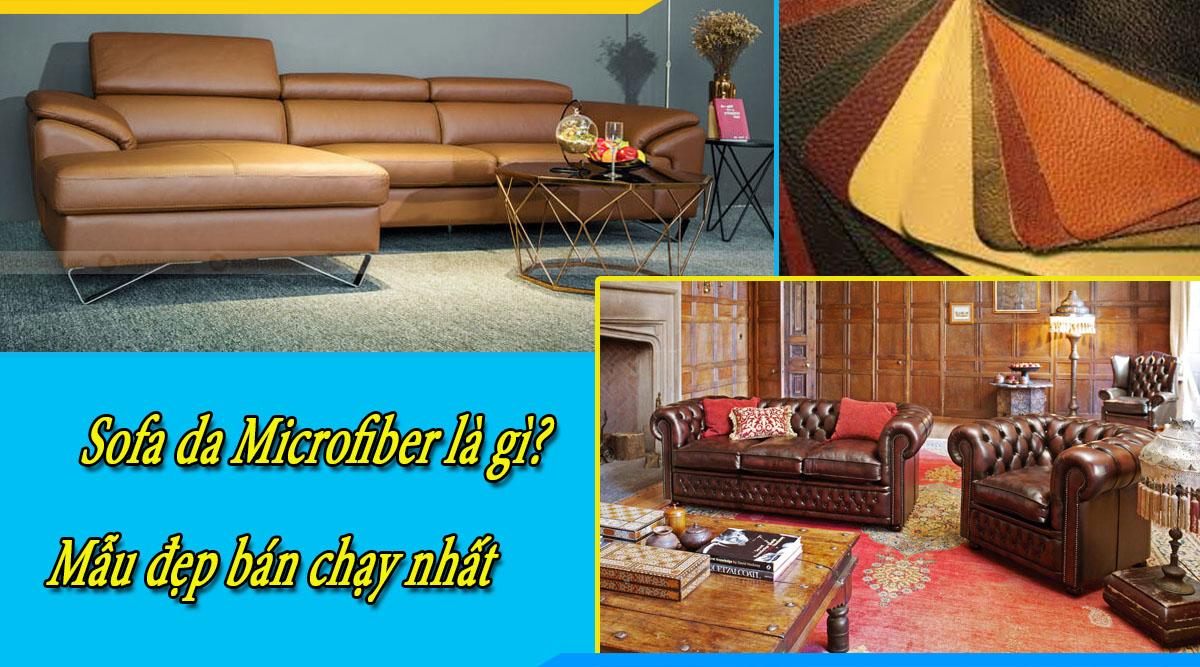 Ghế sofa da Microfiber cực đẹp cực sang