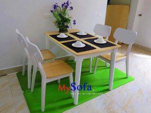 bộ bàn ghế ăn 4 chỗ trẻ trung hiện đại