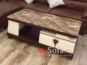 bàn sofa nhập khẩu, bàn sofa mặt đá đẹp