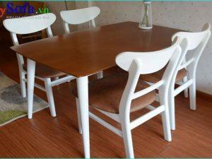 bộ bàn ghế ăn 4 chỗ đẹp hiện đại