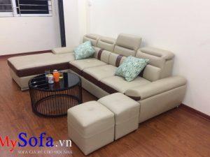 ghế sofa da đẹp, sofa phòng khách chung cư