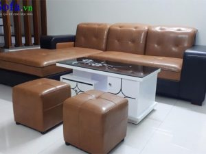 sofa da đẹp giá rẻ kê phòng khách