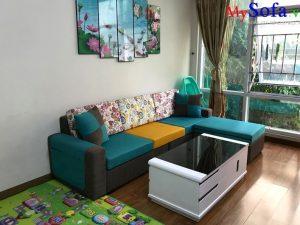 sofa nỉ đẹp giá rẻ, sofa phòng khách chất liệu nỉ