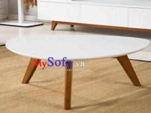 bàn sofa hình oval, bàn sofa hình nghệ thuật