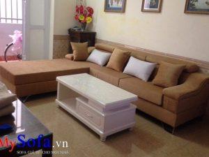 mẫu ghế sofa góc chữ L chất liệu nỉ vải