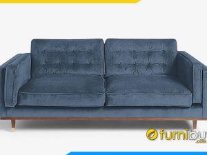 Ghế sofa nỉ văng màu xanh FB20061 hiện đại